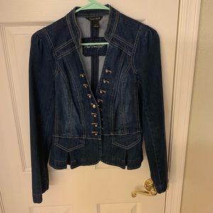 White House Black Market gorgeous jean jacket